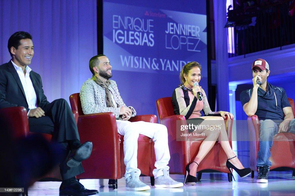 TV Personality Mario Lopez artists Yandel of Wisin Y Yandel Jennifer Lopez Enrique Iglesias and Atlantico Rum celebrate the upcoming Enrique Iglesias...