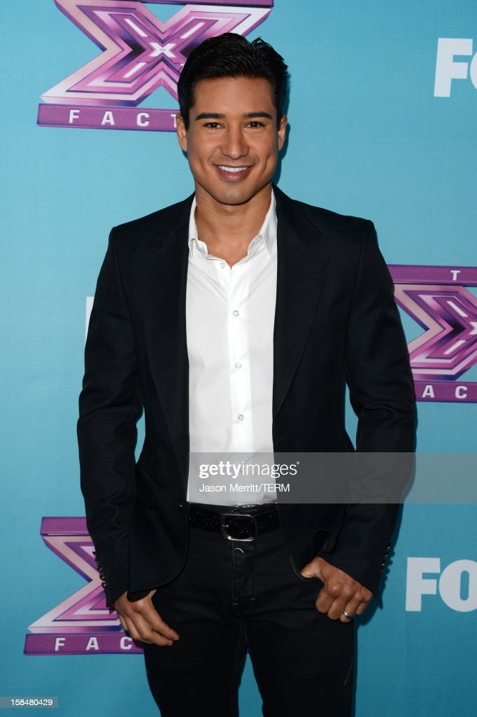 TV personality <a gi-track='captionPersonalityLinkClicked' href=/galleries/search?phrase=Mario+Lopez&family=editorial&specificpeople=235992 ng-click='$event.stopPropagation()'>Mario Lopez</a> attends Fox's 'The X Factor' season finale news conference at CBS Television City on December 17, 2012 in Los Angeles, California.
