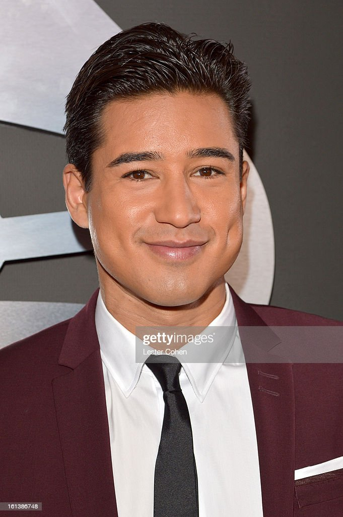 TV personality Mario Lopez attends the 55th Annual GRAMMY Awards at STAPLES Center on February 10 2013 in Los Angeles California
