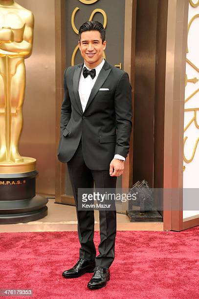TV personality Mario Lopez attends the Oscars held at Hollywood Highland Center on March 2 2014 in Hollywood California