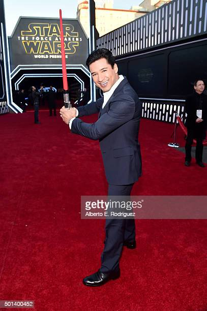 "TV personality Mario Lopez attends the World Premiere of ""Star Wars The Force Awakens"" at the Dolby El Capitan and TCL Theatres on December 14 2015..."