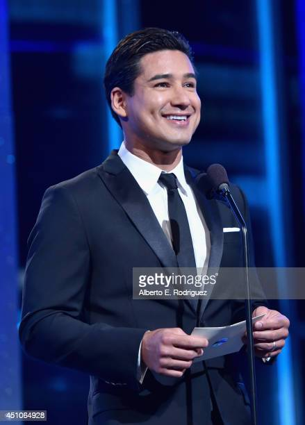 TV personality Mario Lopez speaks onstage during The 41st Annual Daytime Emmy Awards at The Beverly Hilton Hotel on June 22 2014 in Beverly Hills...