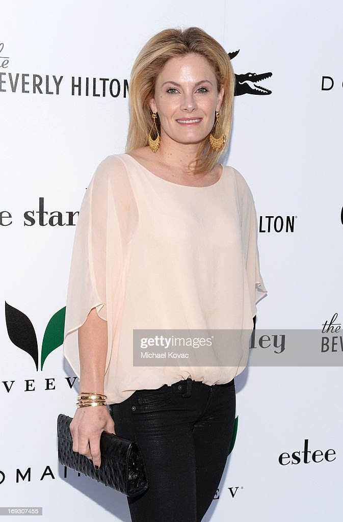TV personality Marisa Zanuck attends The Beverly Hilton unveiling of the redesigned Aqua Star Pool By Estee Stanley at The Beverly Hilton Hotel on May 22, 2013 in Beverly Hills, California.