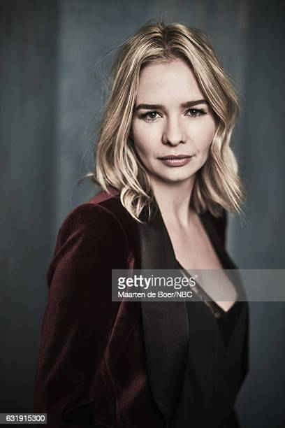 TV personality Marissa Hermer of 'Ladies of London' poses for a portrait in the NBCUniversal Press Tour portrait studio at The Langham Huntington...