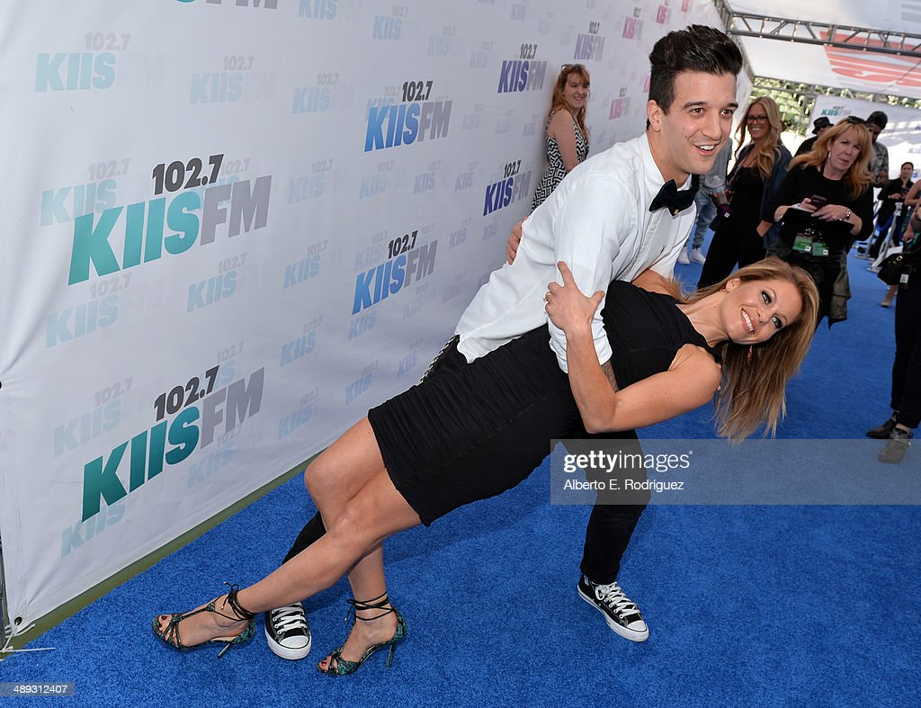 TV personality Mark Ballas and actress Candace Cameron Bure attend 1027 KIIS FM's 2014 Wango Tango at StubHub Center on May 10 2014 in Los Angeles...