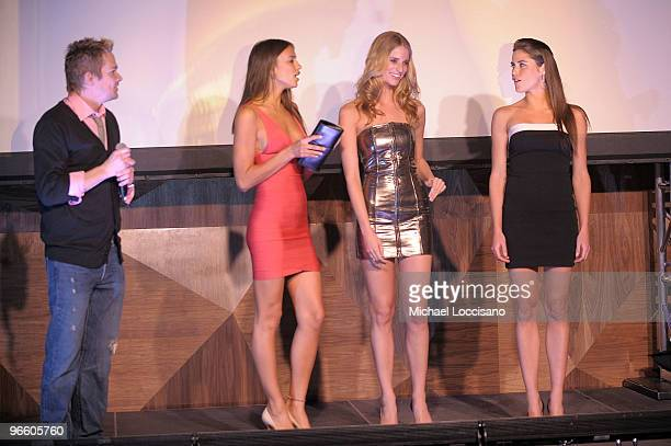 TV personality Mark McGrath and Sports Illustrated swimsuit models Irina Shayk Julie Henderson and Zoe Duchesne attend the Sports Illustrated...