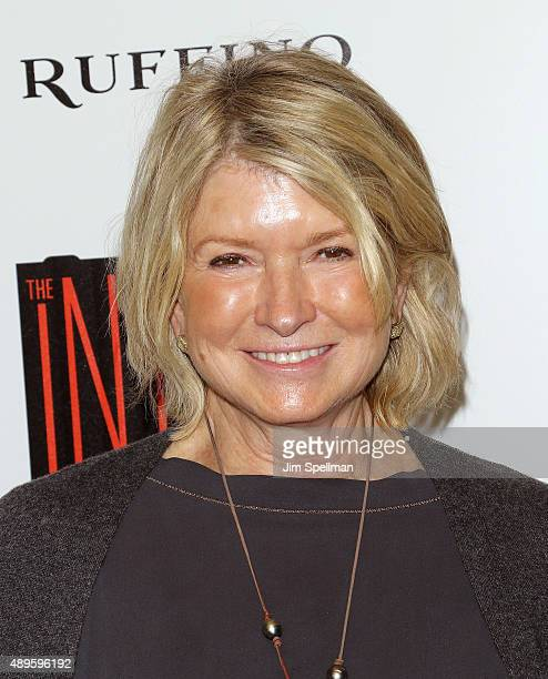 TV personality Martha Stewart attends the The Cinema Society and Ruffino host a screening of Warner Bros Pictures' 'The Intern' at the Landmark's...