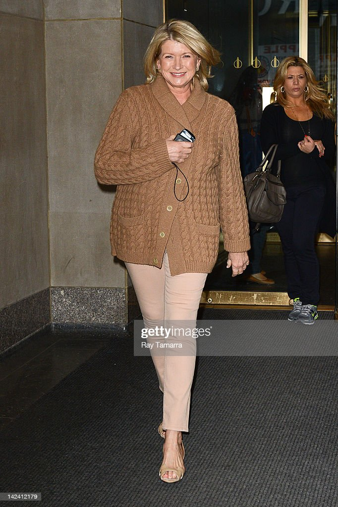 TV personality Martha Stewart leaves the 'Today Show' taping at the NBC Rockefeller Center Studios on April 4 2012 in New York City