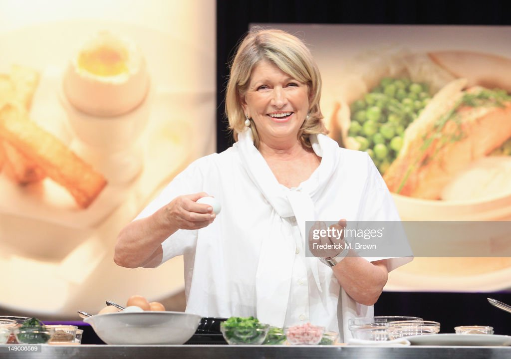 TV personality Martha Stewart speaks onstage at the 'Martha Stewart's Cooking School' panel during day 1 of the PBS portion of the 2012 Summer TCA Tour held at the Beverly Hilton Hotel on July 21, 2012 in Beverly Hills, California.