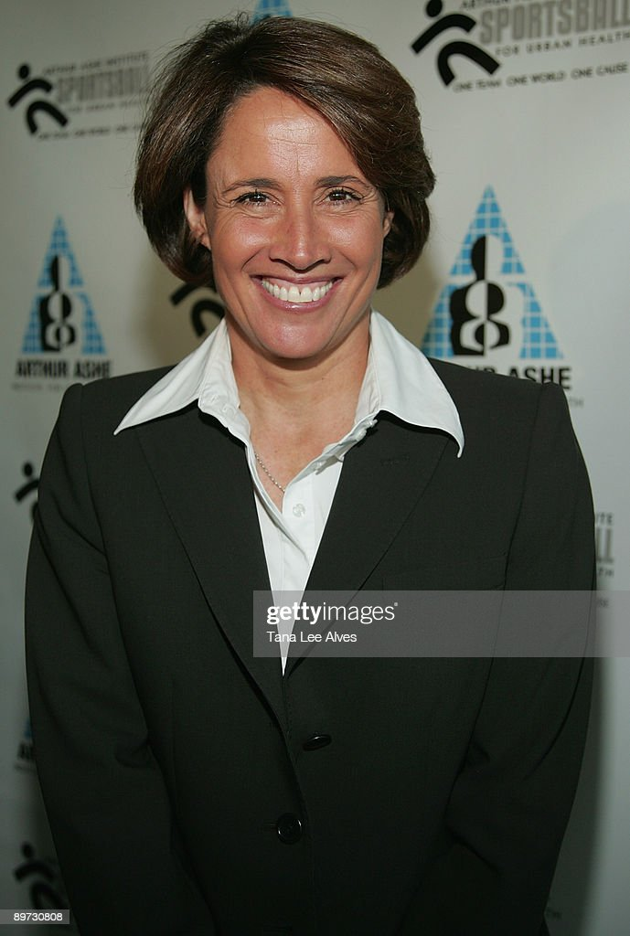 TV personality Mary Carillo attends the 14th Annual Arthur Ashe Institute for Urban Health Sportsball Gala at Chelsea Piers April 24 2008 in New York...