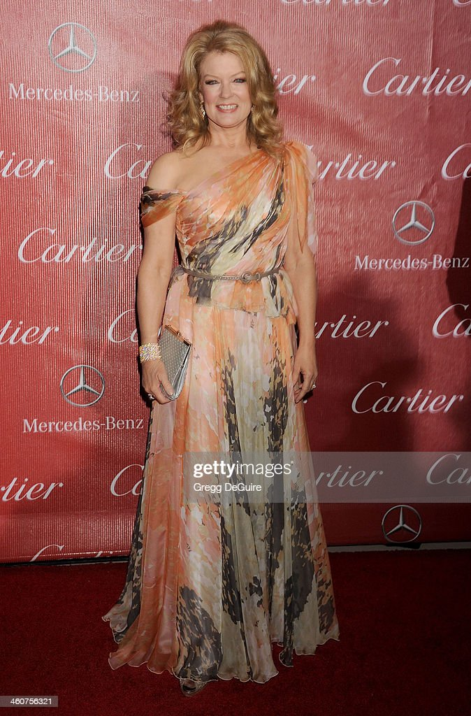 TV personality Mary Hart arrives at the 25th Annual Palm Springs International Film Festival Awards Gala at Palm Springs Convention Center on January 4, 2014 in Palm Springs, California.