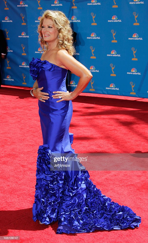 TV Personality Mary Hart arrives at the 62nd Annual Primetime Emmy Awards held at the Nokia Theatre L.A. Live on August 29, 2010 in Los Angeles, California.