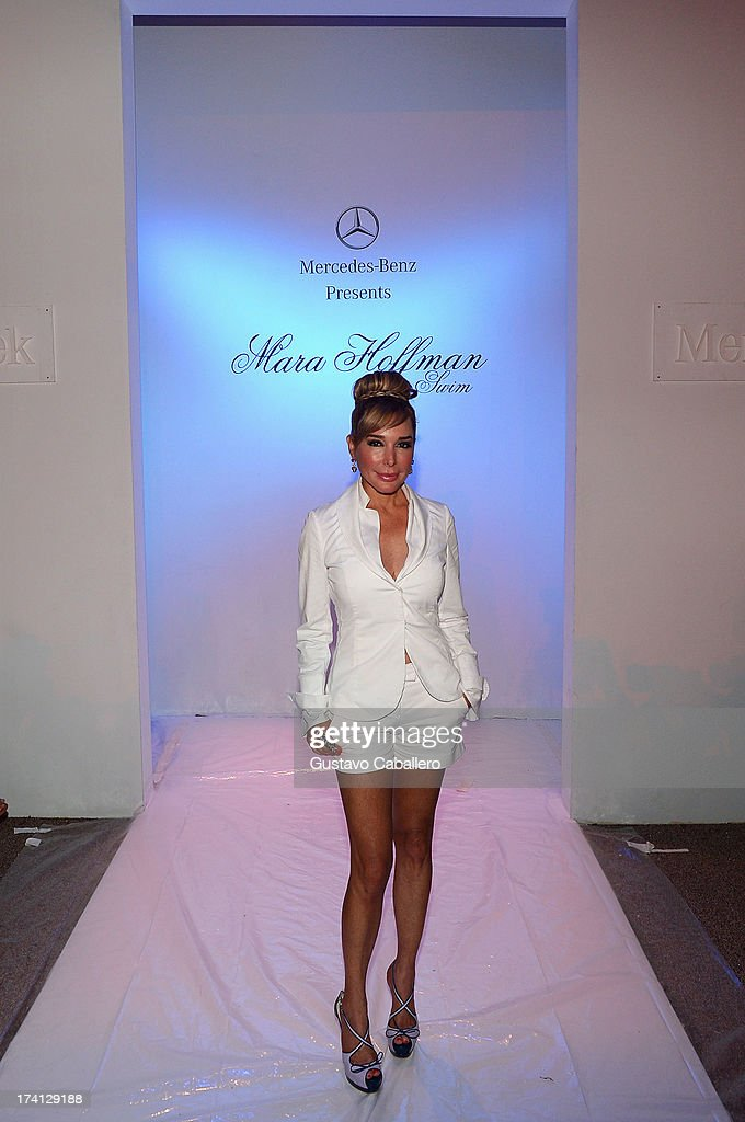 TV personality Marysol Patton attends the Mara Hoffman Swim show during Mercedes-Benz Fashion Week Swim 2014 at Cabana Grande at the Raleigh on July 20, 2013 in Miami, Florida.