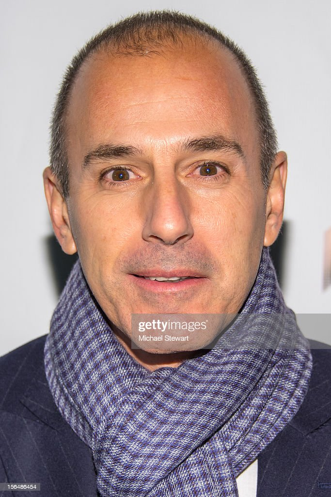 TV personality <a gi-track='captionPersonalityLinkClicked' href=/galleries/search?phrase=Matt+Lauer&family=editorial&specificpeople=206146 ng-click='$event.stopPropagation()'>Matt Lauer</a> attends the 'Scandalous' Broadway Opening Night' at Neil Simon Theatre on November 15, 2012 in New York City.