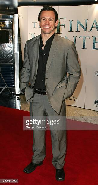 TV personality Matthew Johns attends 'The Final Winter' premiere at the Greater Union George Street Cinema on August 27 2007 in Sydney Australia