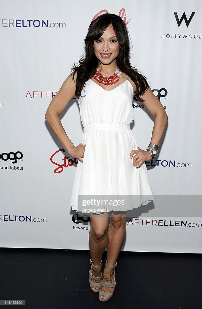 TV personality Mayte Garcia attends Logo's AfterEllen & AfterElton Inaugural 'Hot 100 Party' at Station Hollywood at W Hollywood Hotel on July 16, 2012 in Hollywood, California.