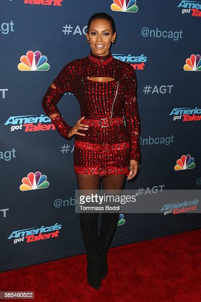 Personality Mel B attends the NBC's 'America's Got Talent' season 11 live show at Dolby Theatre on August 2 2016 in Hollywood California