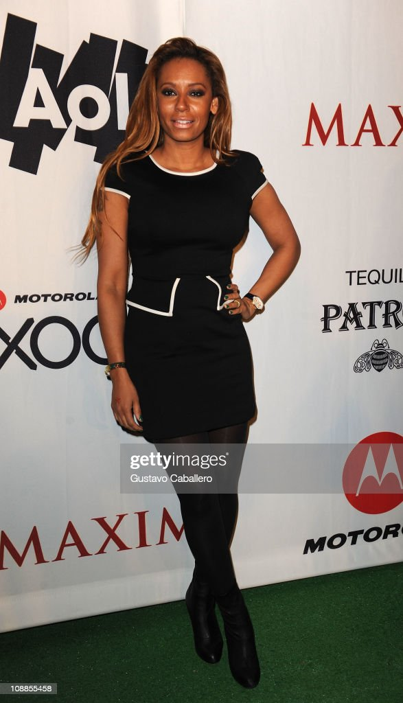 TV Personality Melanie Brown attends the Maxim Party Powered by Motorola Xoom at Centennial Hall at Fair Park on February 5, 2011 in Dallas, Texas.