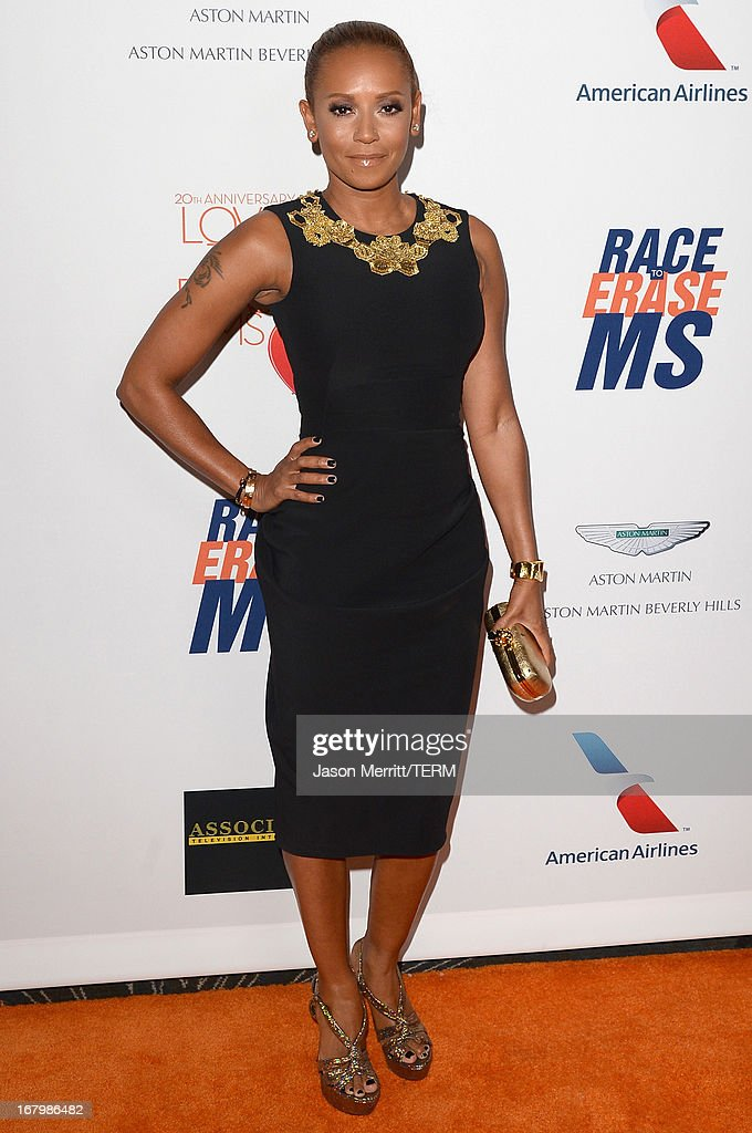 TV Personality Melanie 'Mel B' Brown attends the 20th Annual Race To Erase MS Gala 'Love To Erase MS' at the Hyatt Regency Century Plaza on May 3, 2013 in Century City, California.