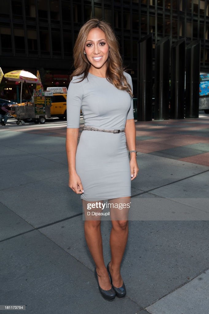 TV personality Melissa Gorga visits 'Extra' in Times Square on September 19 2013 in New York City