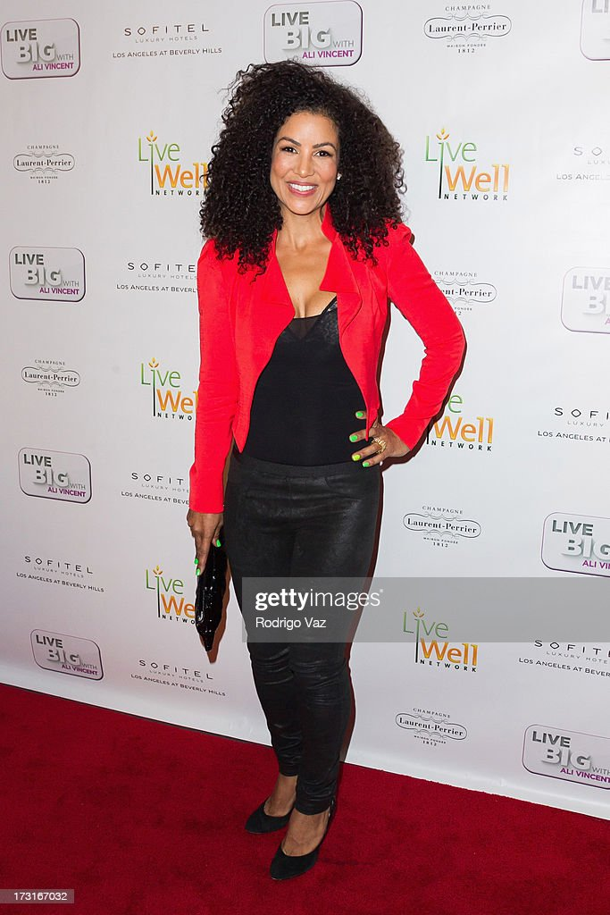 TV personality Melissa Meister arrives at 'Live Big With Ali Vincent' Season 3 launch party at Sofitel Hotel on July 8, 2013 in Los Angeles, California.