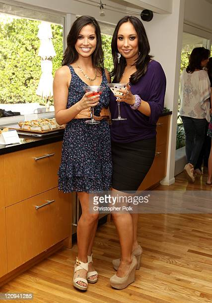 Personality Melissa Rycroft and dancer Cheryl Burke attend The Pampered Chef Housewarming Party For Melissa Rycroft at Melissa's new LA home on...