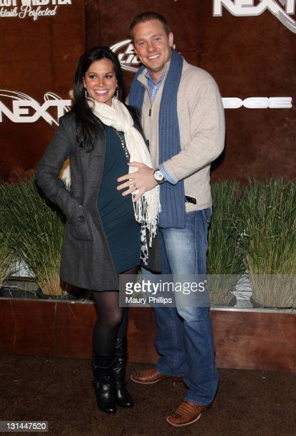 TV Personality Melissa Rycroft and Tye Strickland arrive at the ESPN Magazine 'NEXT' Party held at the NEXT Ranch on February 4 2011 in Fort Worth...
