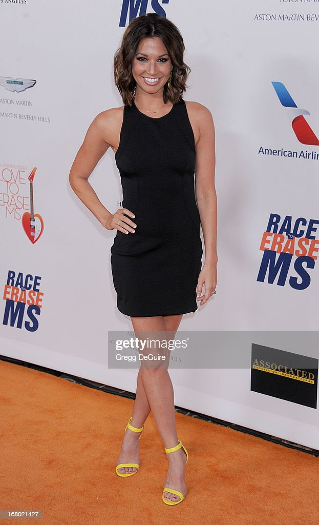 TV personality <a gi-track='captionPersonalityLinkClicked' href=/galleries/search?phrase=Melissa+Rycroft&family=editorial&specificpeople=5761590 ng-click='$event.stopPropagation()'>Melissa Rycroft</a> arrives at the 20th Annual Race To Erase MS Gala 'Love To Erase MS' at the Hyatt Regency Century Plaza on May 3, 2013 in Century City, California.