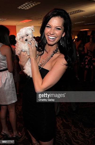 TV personality Melissa Rycroft attends 17th Annual Race to Erase MS event cocktail reception cochaired by Nancy Davis and Tommy Hilfiger at the Hyatt...