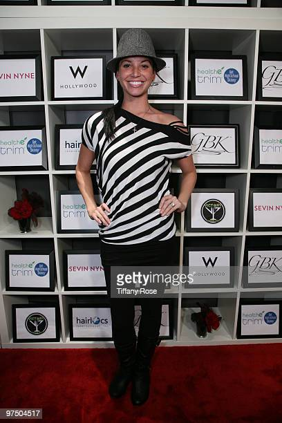 TV personality Melissa Rycroft attends the GBK and HealthyTrimcom Luxury Gift Lounge Celebrating Oscars Week Day 2 at W Hollywood on March 6 2010 in...