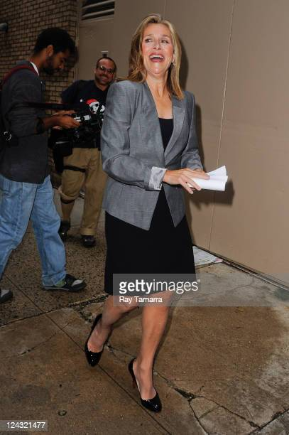 TV personality Meredith Vieira enters the 'Live With Regis And Kelly' taping at the ABC Lincoln Center Studios on September 8 2011 in New York City
