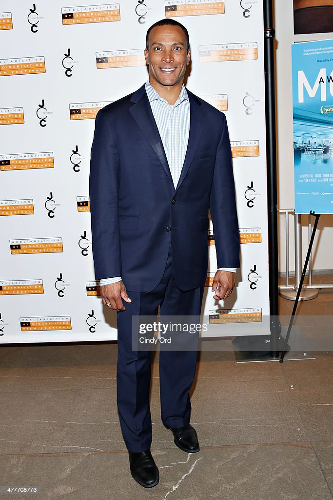 TV personality/ meteorologist Mike Woods attends the 'A Whole Lott More' screening at JCC in Manhattan on March 10, 2014 in New York City.