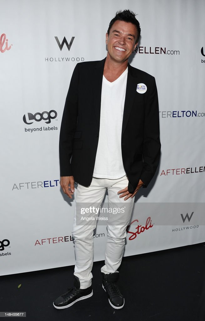 TV personality <a gi-track='captionPersonalityLinkClicked' href=/galleries/search?phrase=Michael+Moloney&family=editorial&specificpeople=589305 ng-click='$event.stopPropagation()'>Michael Moloney</a> attends Logo's AfterEllen & AfterElton Inaugural 'Hot 100 Party' at Station Hollywood at W Hollywood Hotel on July 16, 2012 in Hollywood, California.