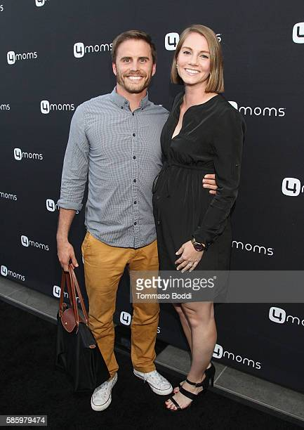 Personality Michael Stagliano and Emily Stagliano attend the 4moms Car Seat launch event at Petersen Automotive Museum on August 4 2016 in Los...
