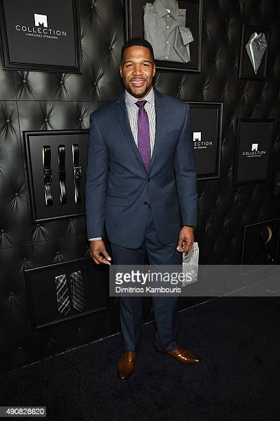 TV personality Michael Strahan attends JCPenney and Michael Strahan's launch of Collection by Michael Strahan on September 30 2015 in New York City