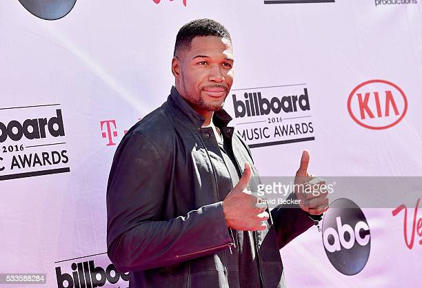 TV personality Michael Strahan attends the 2016 Billboard Music Awards at TMobile Arena on May 22 2016 in Las Vegas Nevada