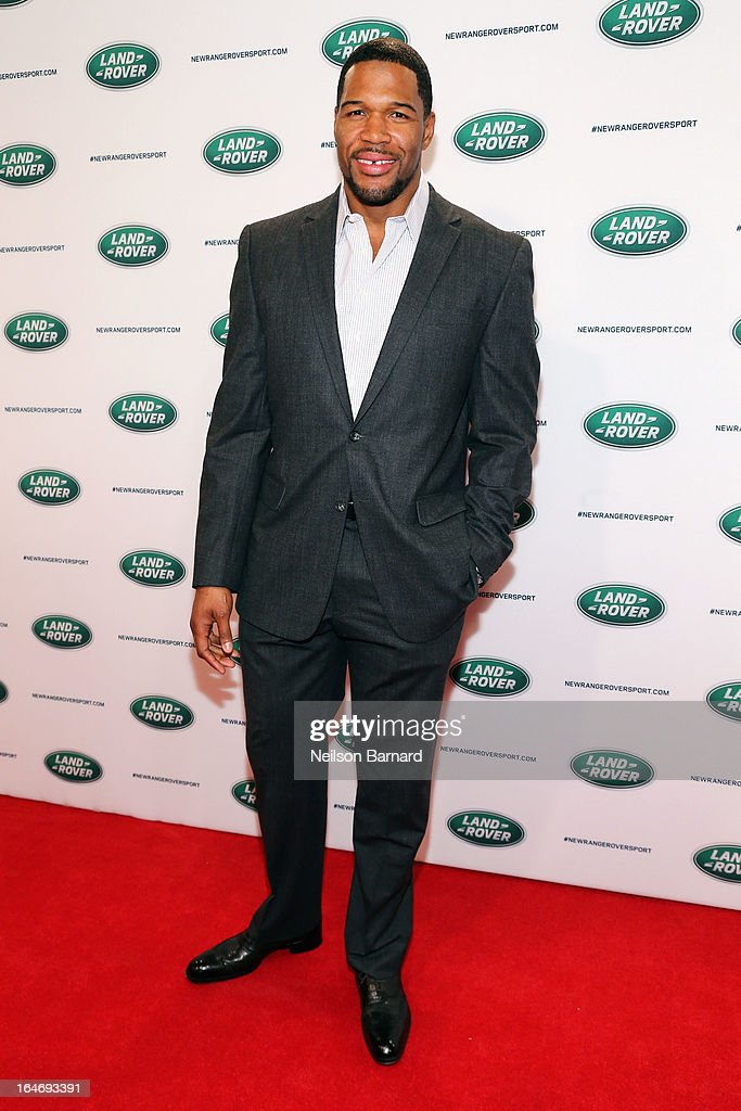 TV personality Michael Strahan attends the all-new Range Rover Sport reveal on March 26, 2013 in New York City.