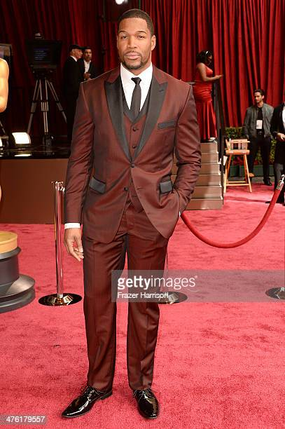 TV personality Michael Strahan attends the Oscars held at Hollywood Highland Center on March 2 2014 in Hollywood California