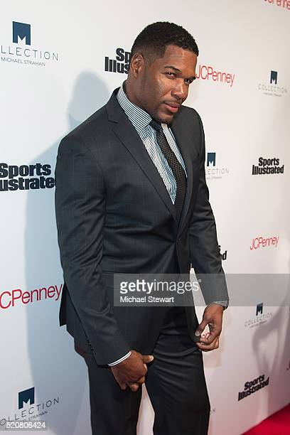 TV personality Michael Strahan attends the Sports Illustrated's Fashionable 50 NYC Event at Vandal on April 12 2016 in New York City