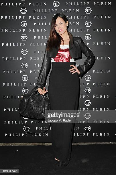 TV personality Michela Coppa attends Philipp Plein fashion show as part of Milan Womenswear Fashion Week on February 25 2012 in Milan Italy
