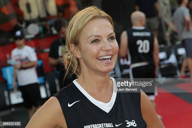 TV personality Michelle Beadle attends 8th Annual Nike Basketball 3ON3 Tournament at Microsoft Square on August 5 2016 in Los Angeles California