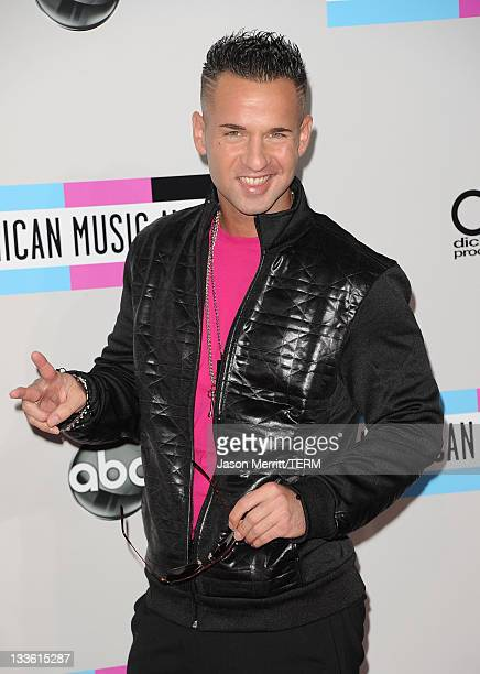 Personality Mike 'The Situation' Sorrentino arrives at the 2011 American Music Awards held at Nokia Theatre LA LIVE on November 20 2011 in Los...
