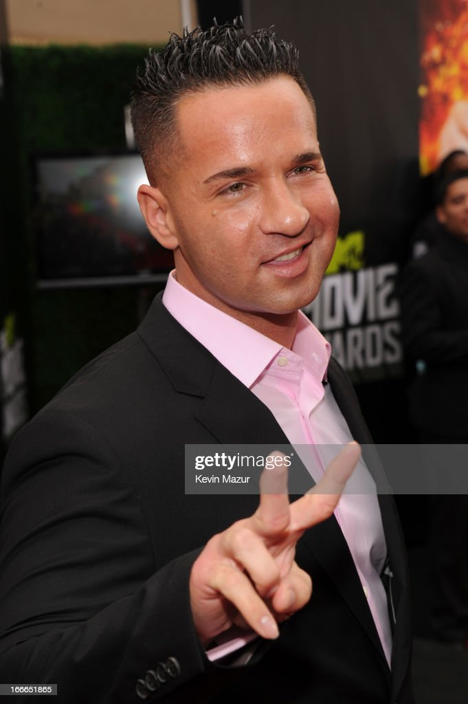 TV personality Mike 'The Situation' Sorrentino arrives at the 2013 MTV Movie Awards at Sony Pictures Studios on April 14, 2013 in Culver City, California.