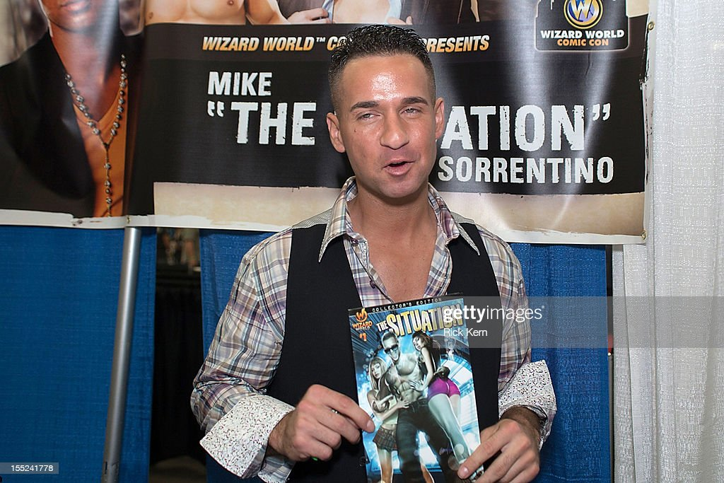 TV personality Mike 'The Situation' Sorrentino attends day two of the Wizard World Austin Comic Con at the Austin Convention Center on October 27, 2012 in Austin, Texas.