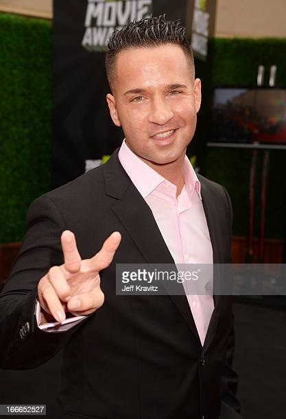 TV personality Mike 'The Situation' Sorrentino attends the 2013 MTV Movie Awards at Sony Pictures Studios on April 14 2013 in Culver City California