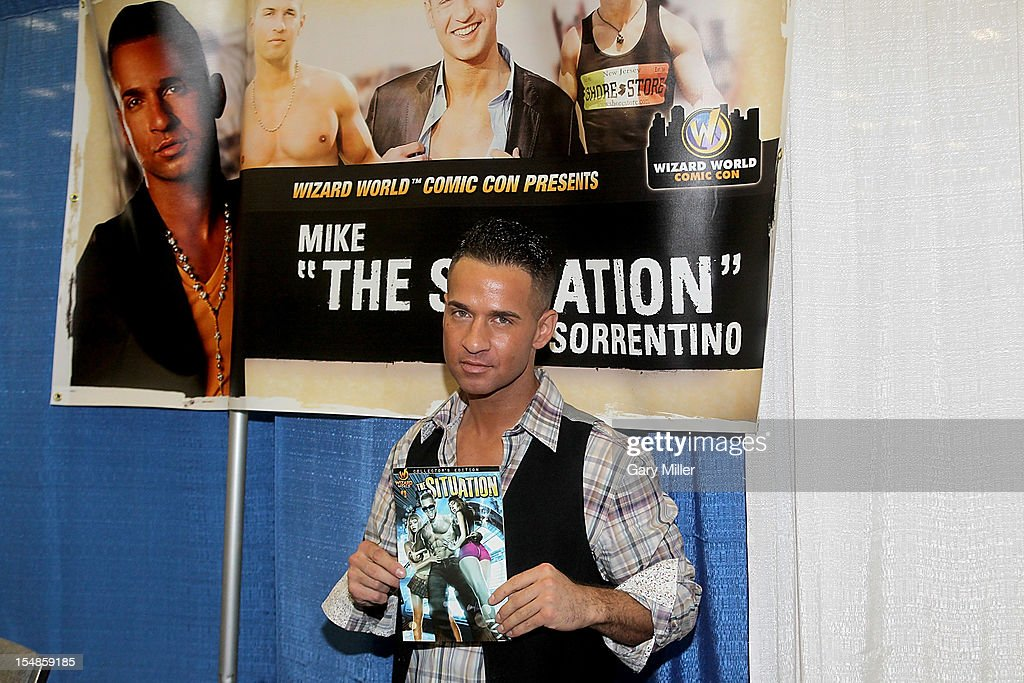 TV personality Mike 'The Situation' Sorrentino attends the Wizard World Austin Comic Convention at the Austin Convention Center on October 27, 2012 in Austin, Texas.
