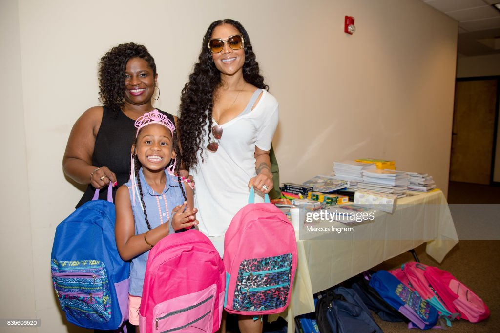TV personality Mimi Faust (R) hosts back to school bash to benefit Boys and Girls Club of Atlanta on August 19, 2017 in Atlanta, Georgia.