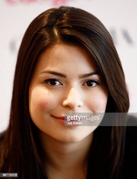 TV personality Miranda Cosgrove promotes 'Sparks Fly' at Toys R Us on April 27 2010 in New York City