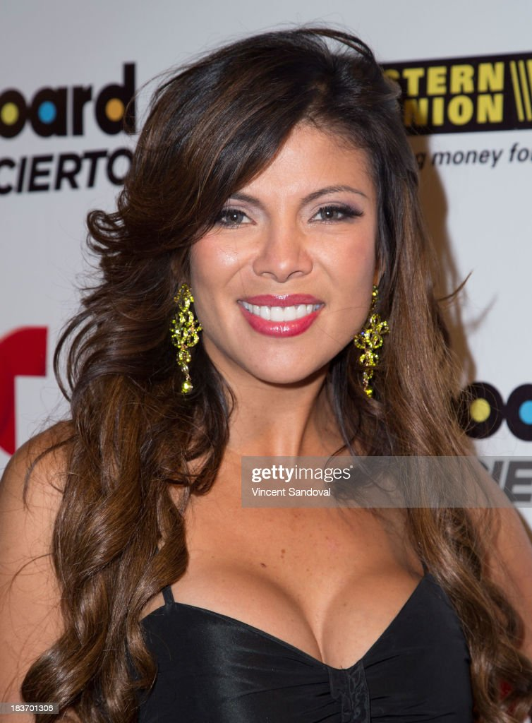 TV personality Mirella Grisales attends Billboard In Concert Series presents Calibre 50 at The Conga Room at The Conga Room at L.A. Live on October 8, 2013 in Los Angeles, California.