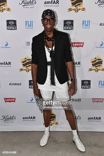 TV personality Miss J Alexander attends Kiehl's LifeRide Finale Event on August 12 2014 in New York City